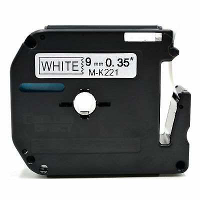 Compatible Brother MK-221 P-Touch Black on White Label Tape 9mm x 8m M-K221