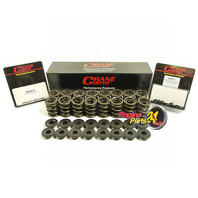 Chev 307 327 350 400 Double Dual Valve Springs Retainers & Locks Crane 99838-16