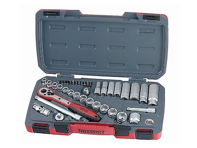 Teng Tools JUNE OFFER! 39Pce 3/8 Drive Socket Ratchet Extension Tool Set + Case