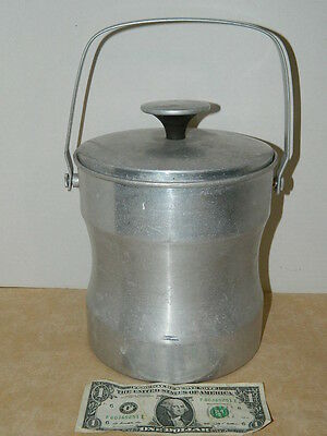 Vintage Retro Brushed Aluminum Ice Bucket Model No. S-2 Made in Italy