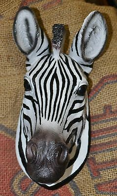 SMALL ZEBRA Taxidermy Style HEAD MOUNT