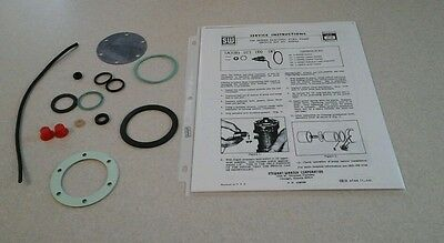 STEWART WARNER 240A FUEL PUMP rebuild kit  GASKETS SEALS WIRE