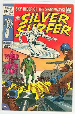 Silver Surfer 10 7.0 7.5 Glossy Cover Nice Oww Pages 1969 Fe