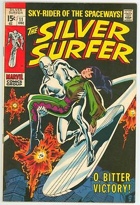 Silver Surfer 11 7.5 Glossy Cover Nice Oww Pages 1969 Fe