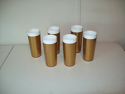 Melamine Thermal 12 Oz Tumblers Vintage made in the USA 1963 patent set of 6
