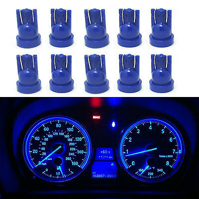 10x Blue T5 74 37 73 257 5050 SMD Instrument Speedo Dash LED Light for Toyota
