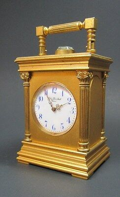 Running Miniature Minute Repeater Carriage Clock Golay Fils & Stahl Geneve 8 Day