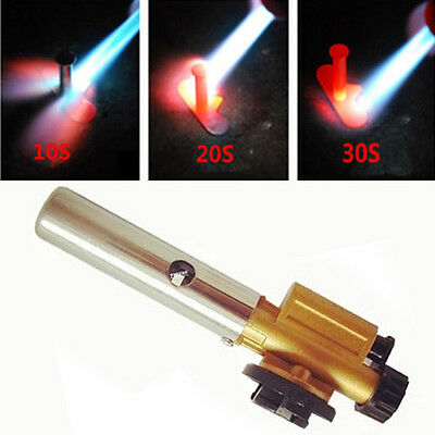 Multi-function Auto Ignition Butane Gas Blow Torch Flamethrower Burner BBQ Tool