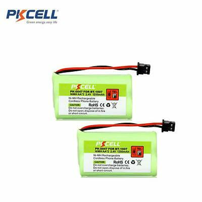 2 x Cordless Home Phone Replacement Battery 1600mAh for Uniden BT-1007 BT-1015