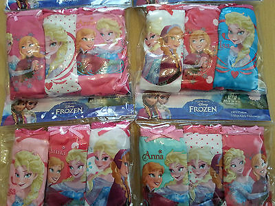 Girls Frozen briefs 3 pack underwear set cotton and boxer shorts