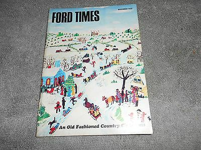 FORD TIMES THE FORD OWNERS MAGAZINE - DECEMBER 1972