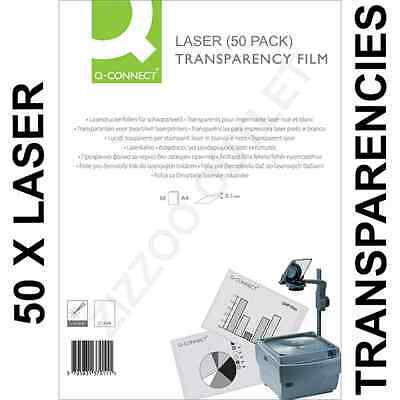 50 X A4 Laser Transparency/acetate Film Great Product And Price + Free P&p!