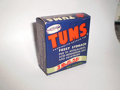Vintage canadian Tums 3 Roll Box