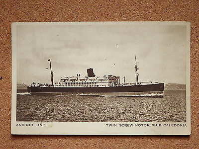 R&L Postcard: Anchor Line  Twin Screw Motor Ship Caledonia