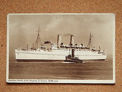R&L Postcard: Canadian Pacific Liner Empress of France