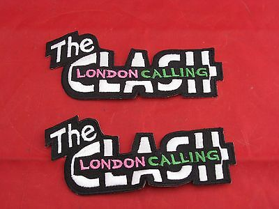 "Embroidered The Clash Patch For Biker Jacket Lot of 2 5"" X 2"""