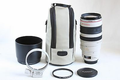 Canon EF 100-400mm L IS USM Lens EXCELLENT EOS DIGITAL +HOYA HMC 77mm UV 400 mm