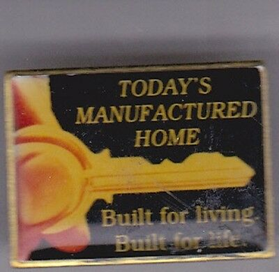 """""""TODAY'S MANUFACTURED HOME BUILT FOR LIVING BUILT FOR LIFE"""" Enamel Pin"""
