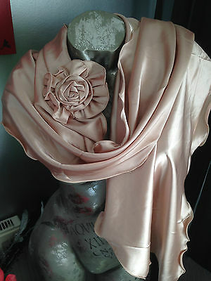 Satin Shawl Wrap Stole Bolero Pashmina Evening Wedding Bridal Bride Prom