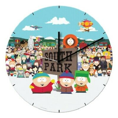 "South Park Complete Cast Opening Scene 13.5"" Cordless Wood Wall Clock NEW SEALED"