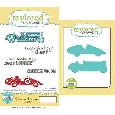 Taylored Expressions - Cling Stamp and Die Set - Vroom Vroom