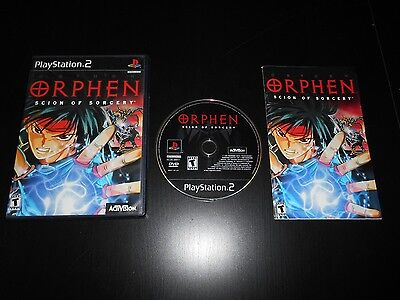 Orphen Complete Playstation 2 PS2 Game Scion of Sorcery