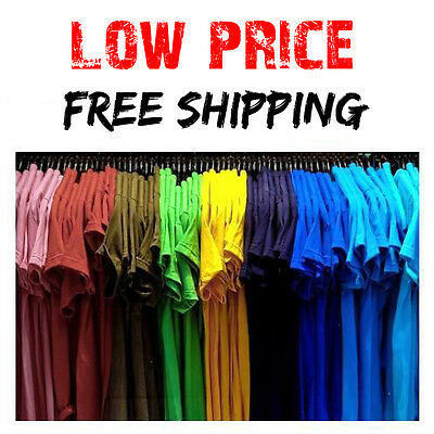 Men's Blank T-Shirt Plain Gildan 100% Cotton Work Shirt LOW PRICE LIMITED TIME