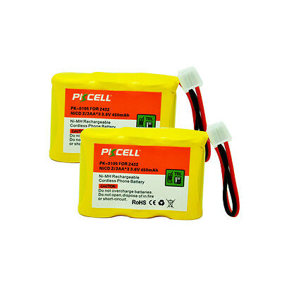 2 Cordless Phone Rechargeable Battery For AT&T 2422 2440 80-5074-00-00 BPT27