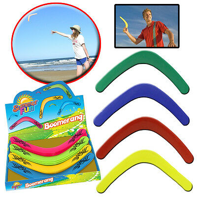 Boomerang Flying Sports Throwing Disc Plastic Kids Adult Garden Beach Outdoor