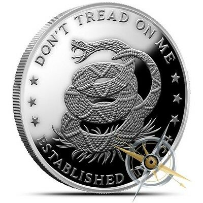 Don't Tread on Me | Eternal Vigilance | 1 oz .999 Silver Proof Round USA Coin