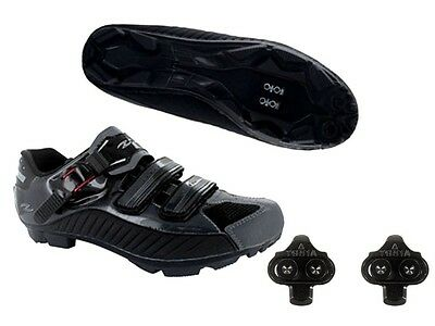 Zol Grey Mountain Bike and Indoor Cycling Bicycle Shoes + Cleats