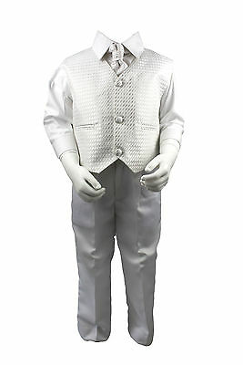 Boys Suits White 4 Piece Suit Christening Wedding Page Boy Baby Formal Smart
