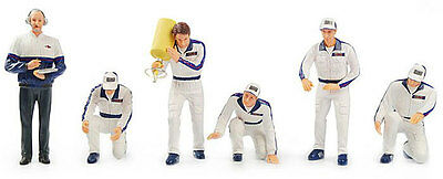 Truescale TSM10AC06 Pit Crew Figurines 'Martini Racing' (Set Of 6) 1/43 Scale