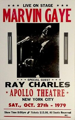 Marvin Gaye with special guest Ray Charles in NYC '79 Poster