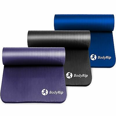 BodyRip EXERCISE NBR YOGA MAT 15mm WITH CARRY STRAPS WORKOUT BUY MORE PAY LESS