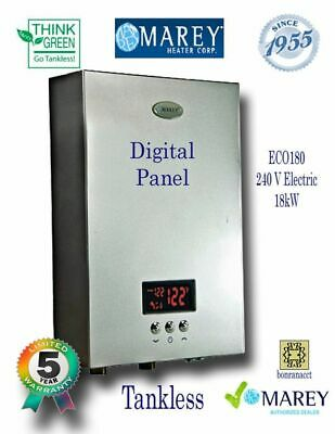 Electric Tankless Best Instant Demand Marey ECO180 Water Heater 5 GPM 240V 18kW