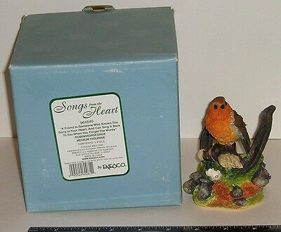 """ENESCO SONGS FROM THE HEART""""ROBIN/HORSESHOE FIGURINE""""1998""""BY RUSSELL WILLIS !!!"""