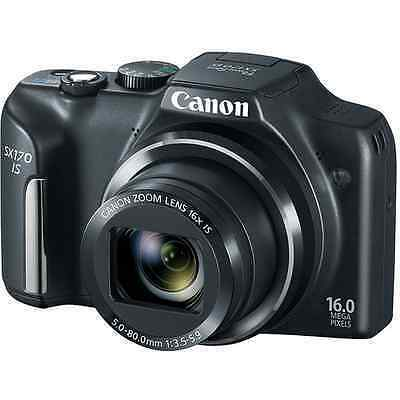 Canon PowerShot SX170 IS 16.0 MP Digital Camera - Black