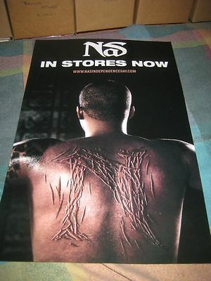 NAS-(self titled)-11X17 POSTER-2 SIDED-MINT-RARE