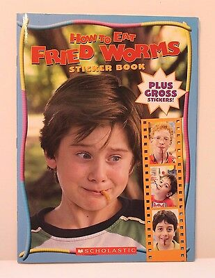 How To Eat Fried Worms Movie Sticker Book - Scholastic Children's Paperback
