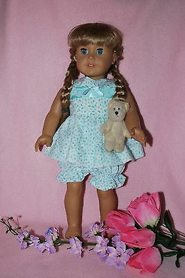 """Doll clothes fit 18"""" American Girl dolls handmade in the USA.by Grandma Quality"""