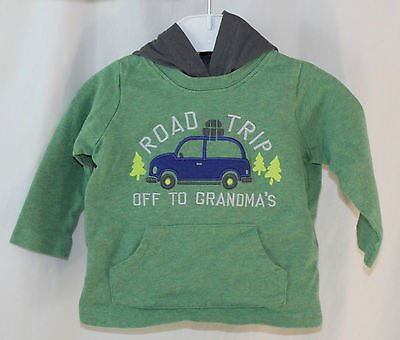 Child of Mine by Carter's, 3/6 Mo. Green Road Trip Hooded Shirt