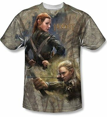 The Hobbit Legolas Elves Sublimation Front Print T-Shirt Size Small, NEW UNWORN