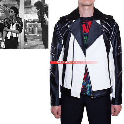 Michael Jackson Costume-Pepsi Jacket-Advertising Metal Zipper Leather Clothing