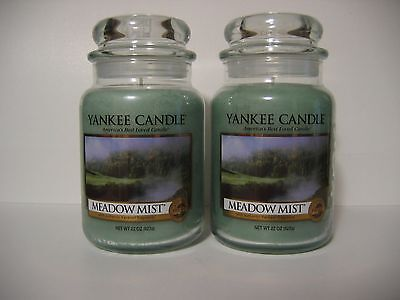 Lot of 2 Yankee Candle Meadow Mist 22 oz Large Jars New