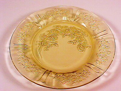Vintage Amber Sharon - Cabbage Rose Pie Plate / 10 Available / Federal Glass Co