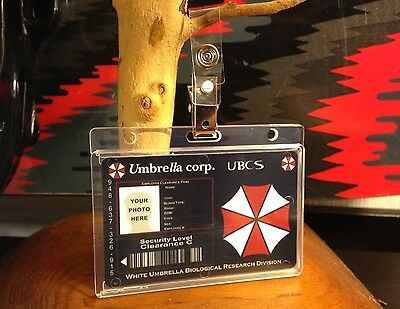 Custom Resident Evil Umbrella Corporation CAC Style ID Card Badge Inspired Prop