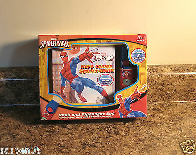 Marvel Spider-Man Play a Sound Book and Flashlight Set NEW