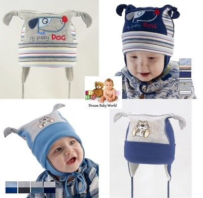 SALE RICH Cotton boys hat spring 6 - 24 months 2 - 4 Years BABY Tie up KIDS
