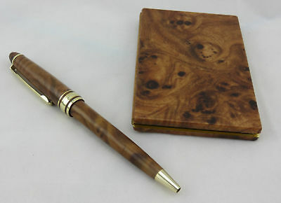 Lacquered Stationery Gift Set, Address Book And Matching Pen.